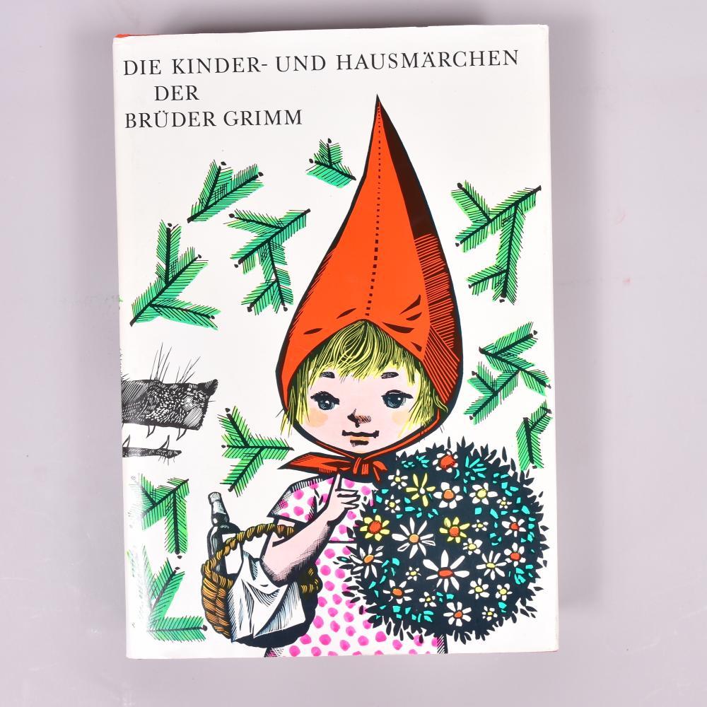 Kinder-und Hausmärchen der Brüder Grimm, Kinderbuchverlag Berlin 1982, Illustration Werner Klemke, roter Leineneinband, orig. Schutzumschlag, sehr schöner 1a Zustand!, 19x28x4,5 cm