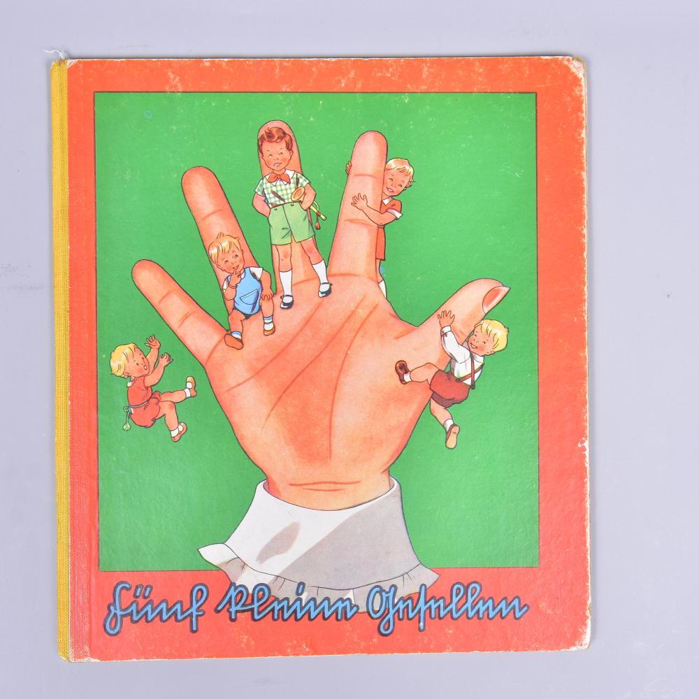 Fünf kleine Gesellen, Malbuch um 1935, guter Zustand