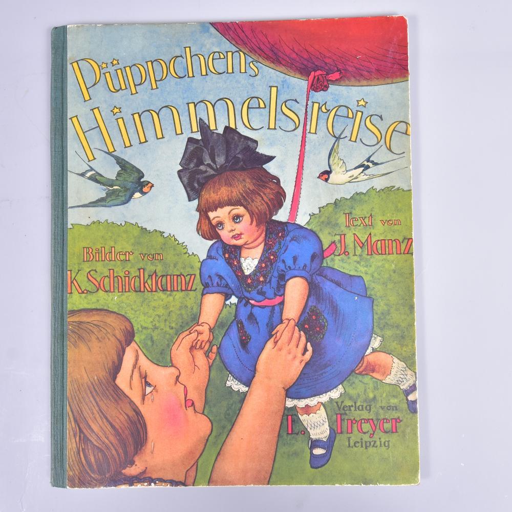 """""""Püppchen´s Himmelsreise zum Christkindel"""" v. Ilse Manz, illustr.v Karl Schickdanz, Verlag Edwin Freyer Leipzig, 1927, wunderschöne Illustrationen, sehr gut erhalten"""