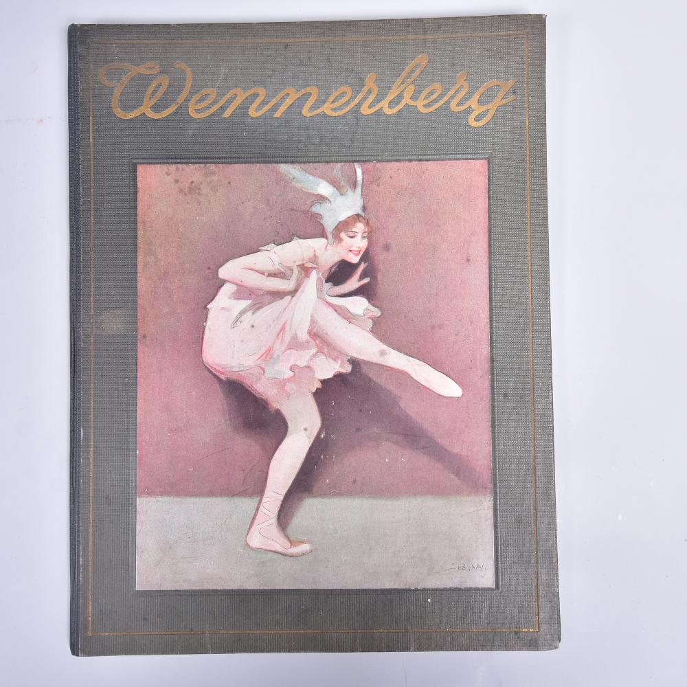 """""""Wenneberg-Album"""" P. Wennerberg, 1921, Berlin Dr. Eysler & Co., 25 Stk. farbige Kunstblätter nach Originalbildern, gute Erhaltung"""
