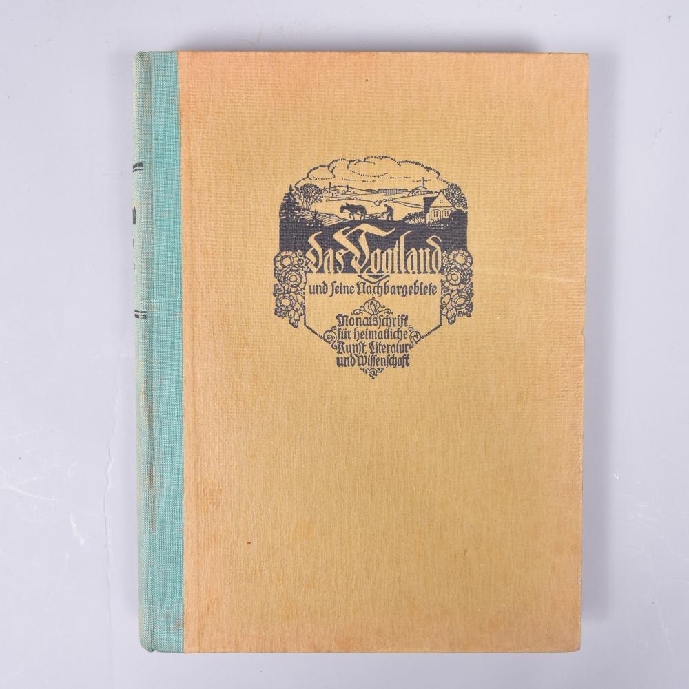 """""""Das Vogtland und seine Nachbargebiete"""", Monatsschrift für heimatliche Kunst, Literatur und Wissenschaft, geb. Ausgabe von 1914, Gebrauchsspuren"""