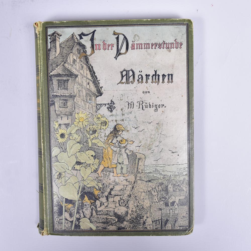 """""""In der Dämmerstunde"""" Märchen v. M. Rüdiger, Verlag v. Alexander Köhler Dresden/Leipzig, illustr.von Maler E. Walter, leichte Gebrauchsspuren"""