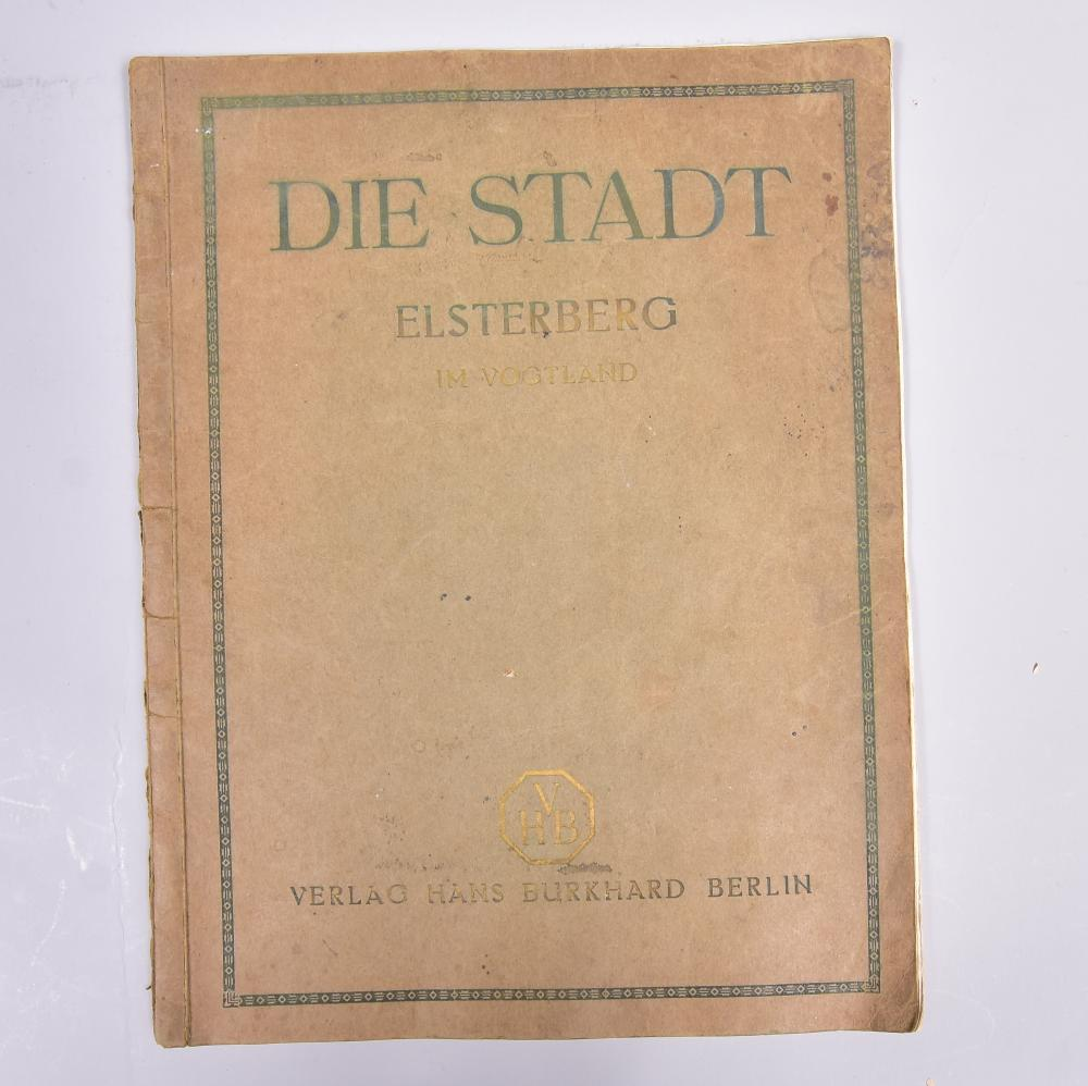 """""""Die Stadt Elsterberg im Vogtland"""", Verlag Hans Burkhard Berlin 1924, Monographien entwicklungsfähiger Städte, Gebrauchsspuren"""