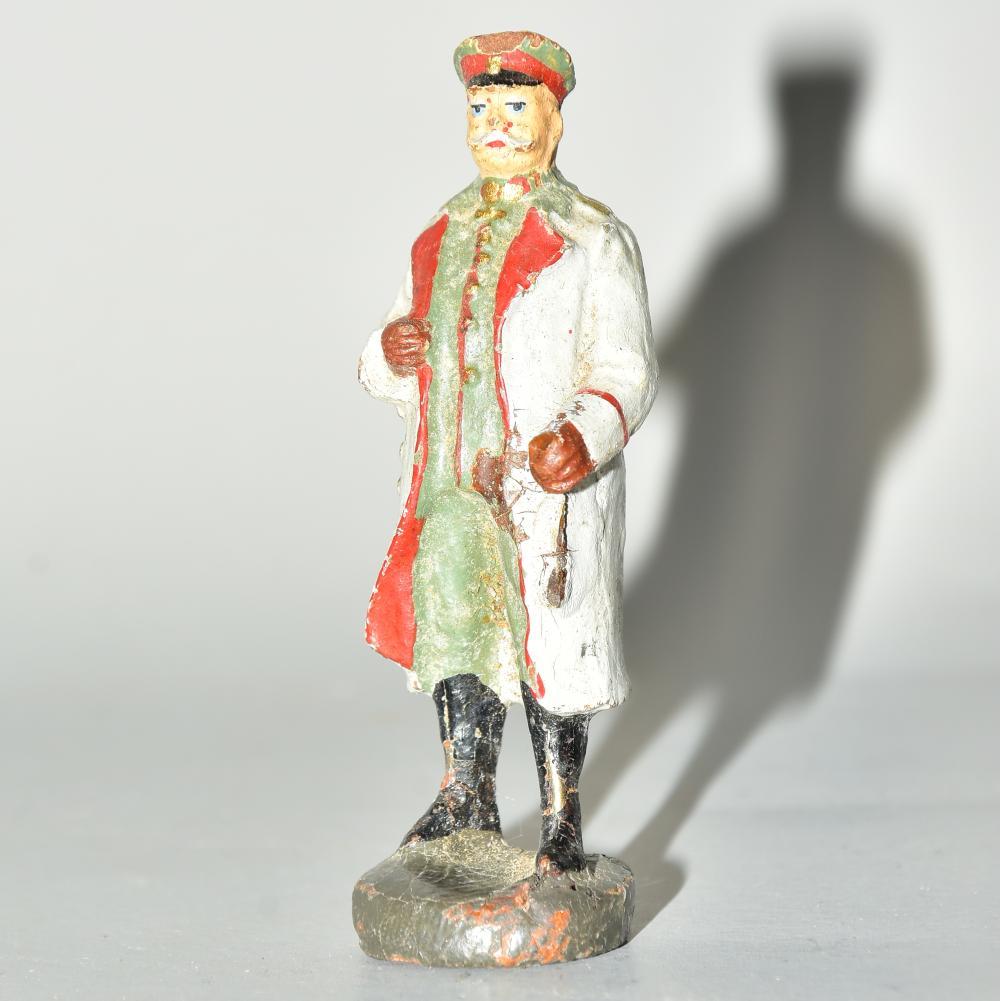"Elastolin-Figur, ""Paul v. Hindenburg"", leicht bespielt, H 7cm"