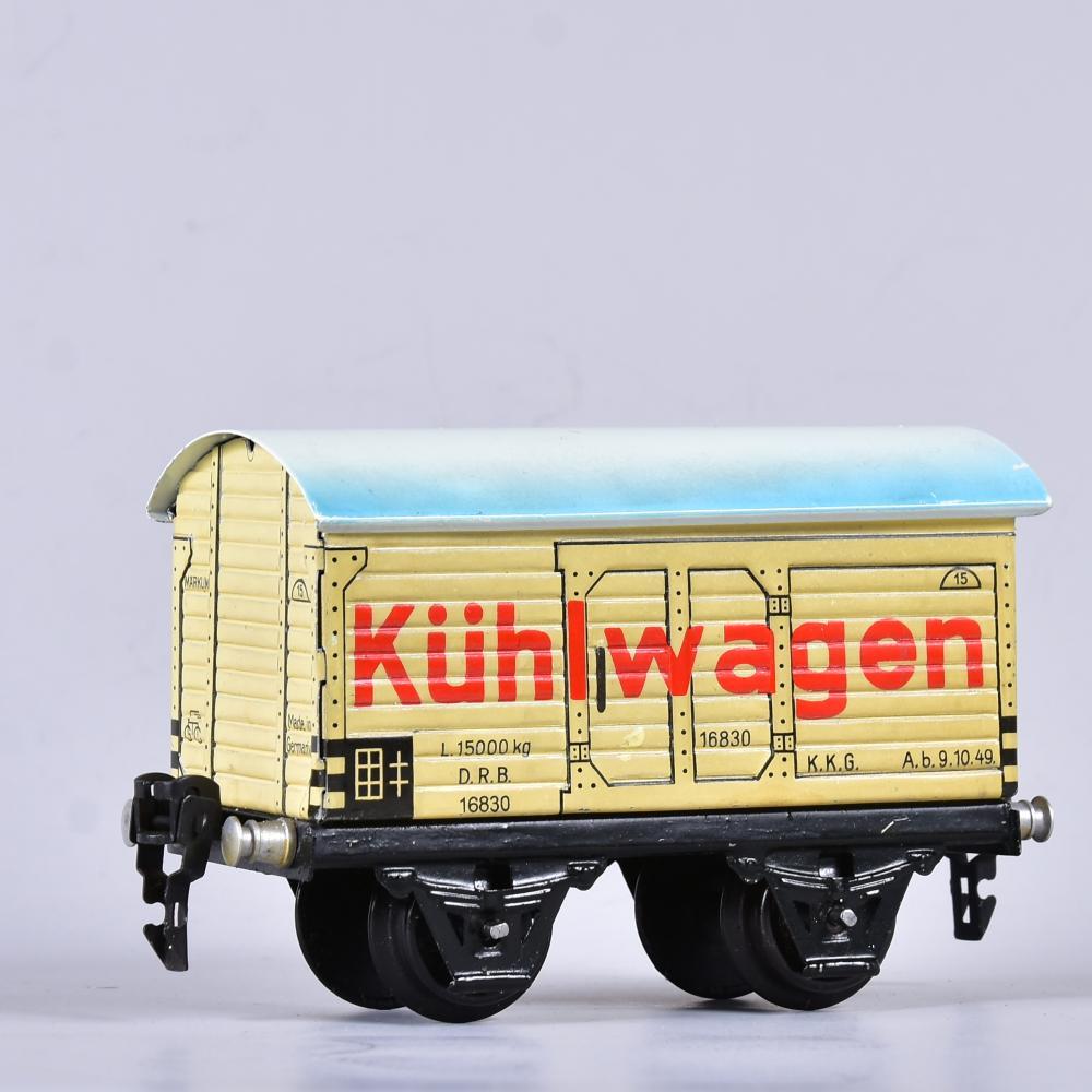 """"""" Märklin """" Kühlwagen, Spur 0, um 1940, guter Zustand, L 12 cm"""