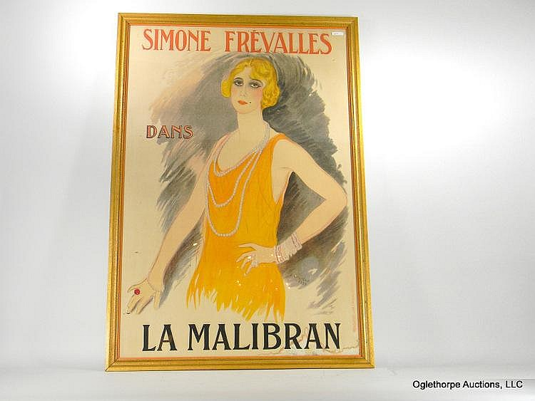 LARGE FRENCH POSTER BY MARCEL VERTES