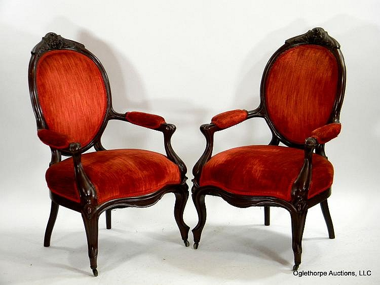 PAIR OF VICTORIAN ARMCHAIRS