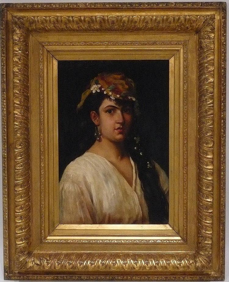 tableau portrait de femme espagnole huile sur toile encadr. Black Bedroom Furniture Sets. Home Design Ideas