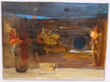"TABLEAU ""ABSTRACTION"" 1964 DE Sigismond KOLOZSVARY Dit KOLOS-VARY(1899-1983"