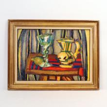 """TRES BELLE """"NATURE MORTE AU PICHET"""" DE Louis LATAPIE (1891-1972) Huile sur toile signée en bas à dro"""