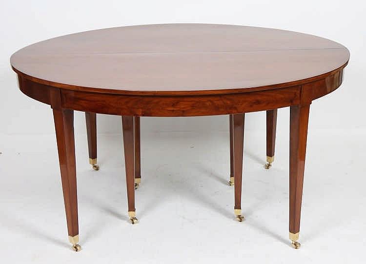 Importante table de salle a manger xix en acajou - Table salle a manger solde ...