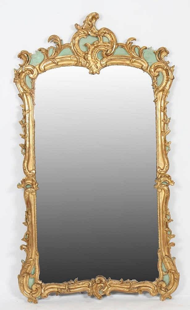 Miroir provencal louis xven bois dor et laqu - Miroir ancien bois dore ...