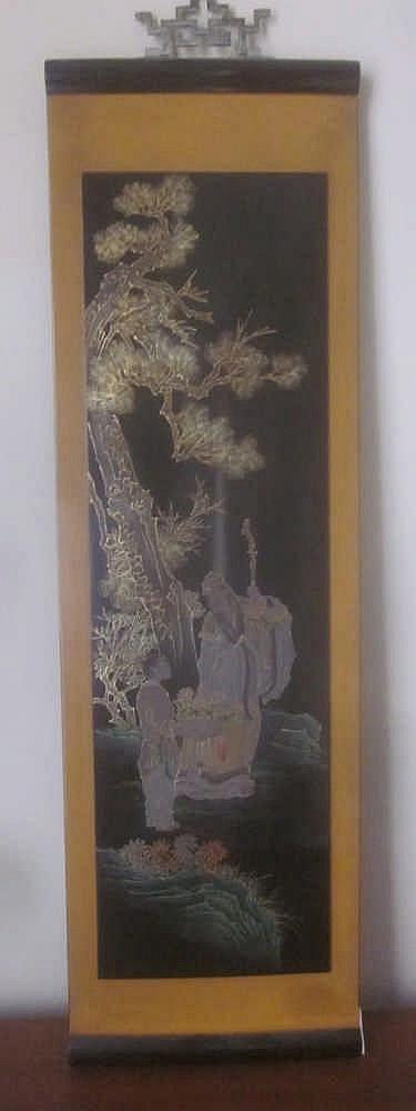 panneau decoratif en bois laque de la chine. Black Bedroom Furniture Sets. Home Design Ideas