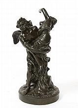 ENLEVEMENT D'ORITHYE PAR BOREE Epoque XX è siecle Signé de Gaspard Marsy H : 44 ; L : 21 cm Gaspard et Balthazar Marsy (Gaspard (1624 à Cambrai en France - 1681) et Balthazar (1628 à Cambrai en France - 1674)) sont deux frères, tous deux sculpteurs