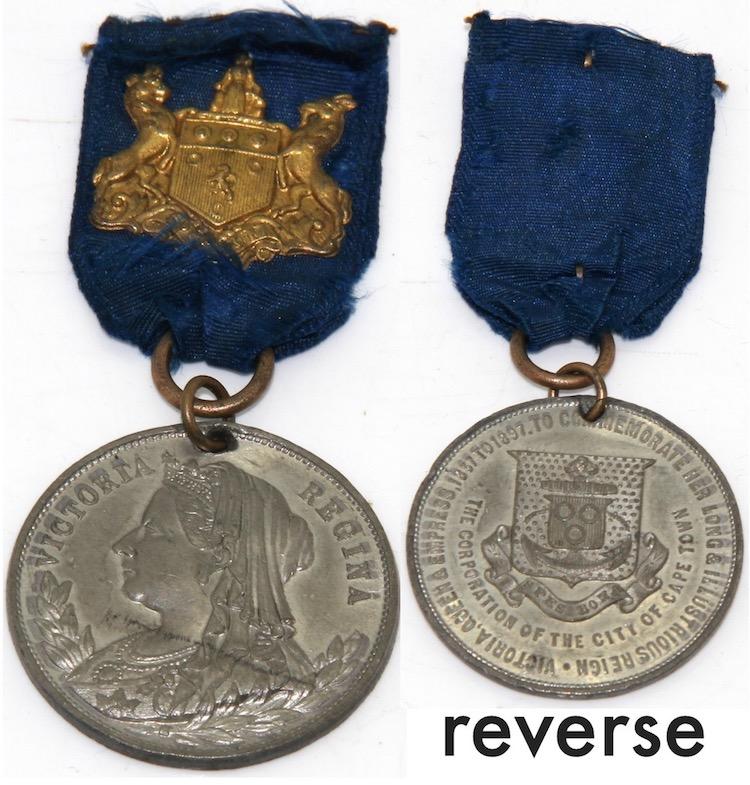 Cape town congratulates queen victoria 1897 c33mm diamete Home furniture auctions cape town