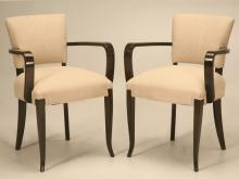 Pair of Vintage French '40s Bridge Chairs