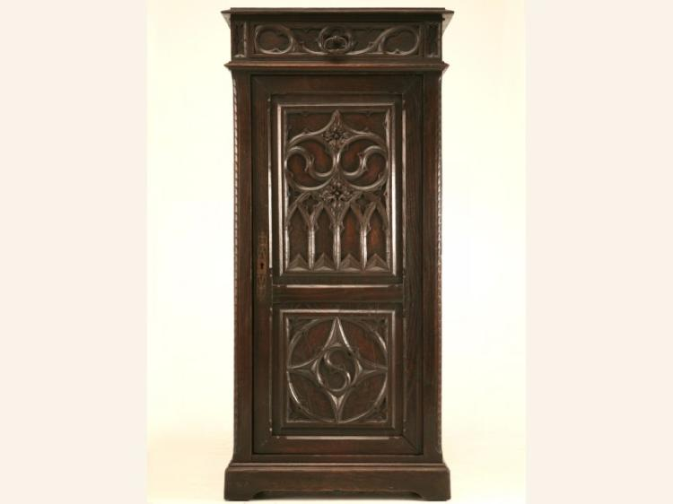 Antique French Gothic Style Cupboard