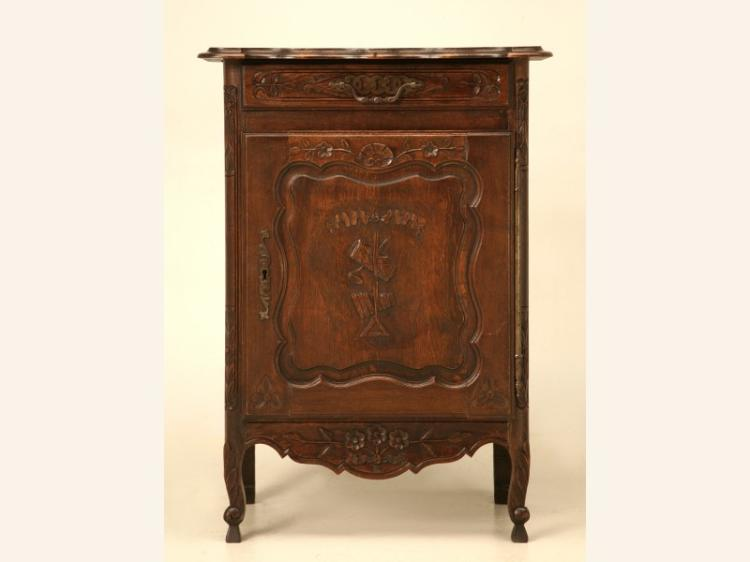 French Heavily Hand-Carved Oak Confiturier