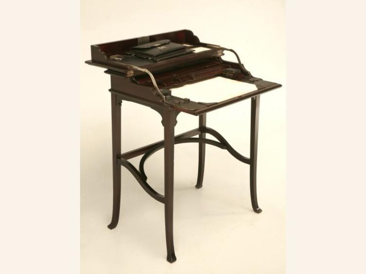 Antique Austrian Mahogany Flip Top Desk
