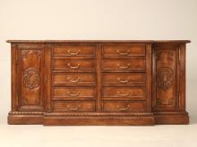 Vintage French Walnut Buffet or Vanity