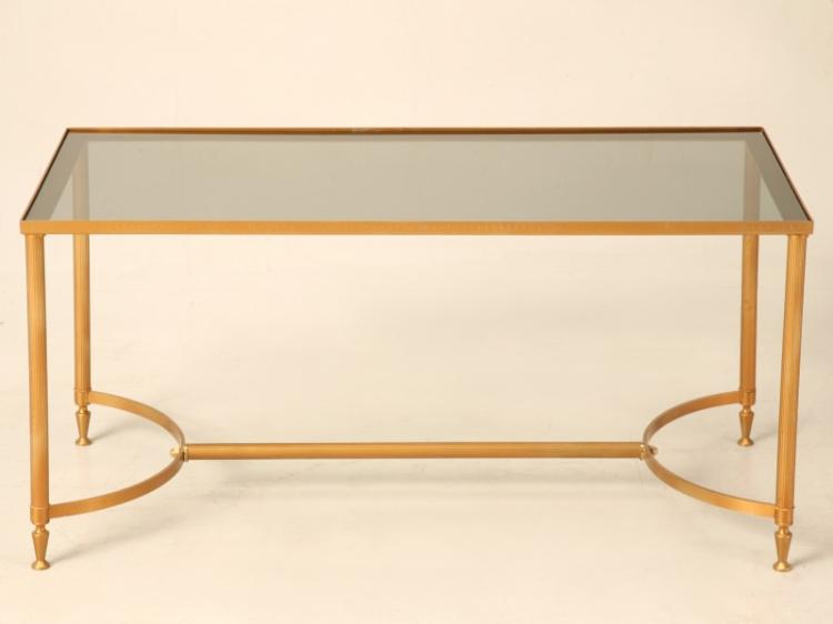 Vintage French Painted Steel Coffee Table