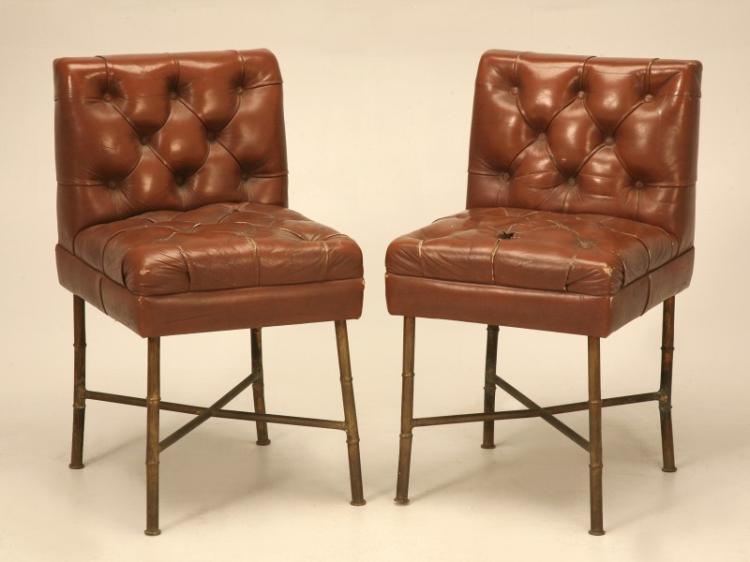 French Leather Chairs - Jacques Adnet, c.1940s