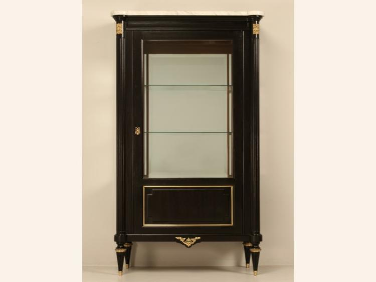 French Ebonized China or Curio Cabinet