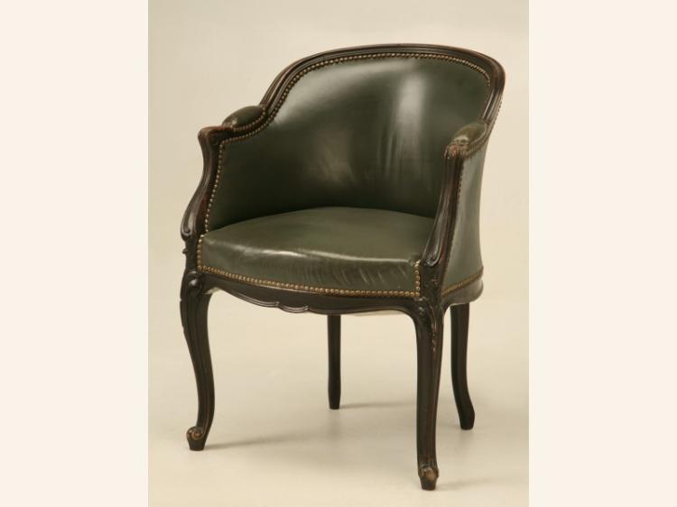 French Louis XV Style Ebonized Desk Chair