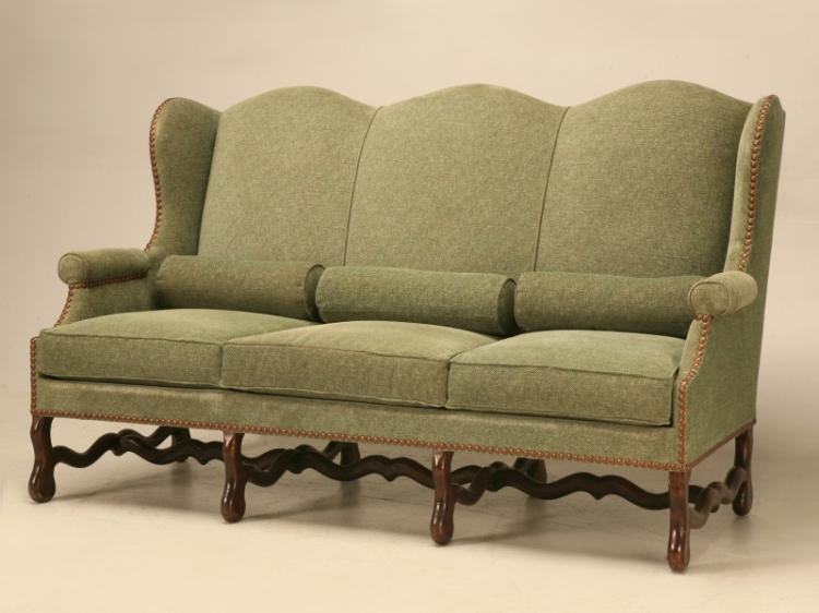 Vintage French Os De Mouton Style Small Sofa