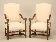c.1920 French Pair of Arm or Throne Chairs