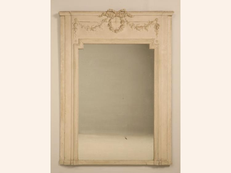 Antique French Mirror Original Glass & Paint