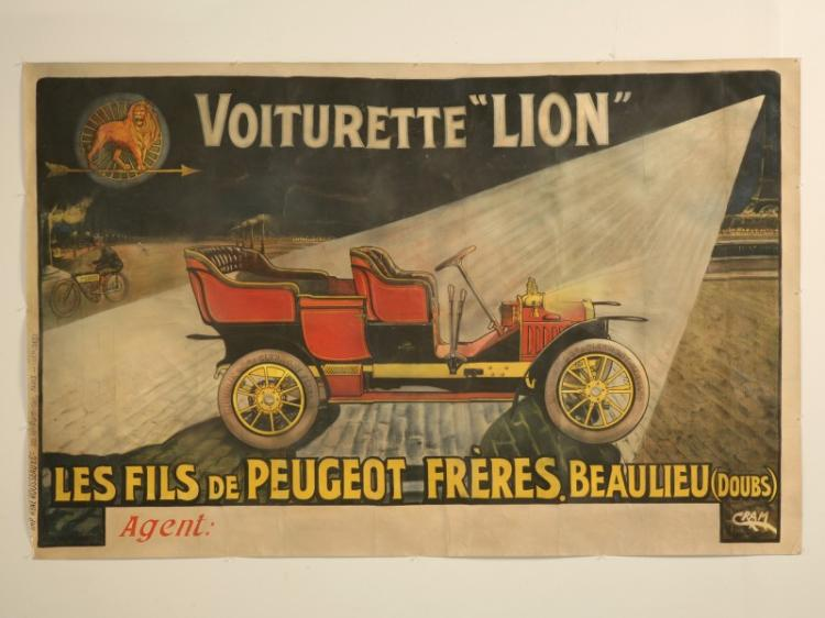 Automobile Poster for Voiturette
