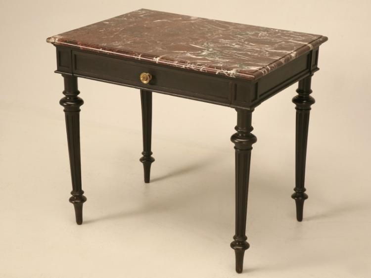 Small Napoleon III Ebonized Side Writing Table