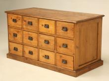 English Pine Bank of Drawers