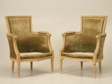 Louis XVI Style Bergere Chairs in Original Paint