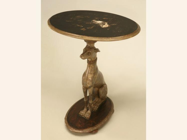 Whippet Table Hand-Carved from Wood
