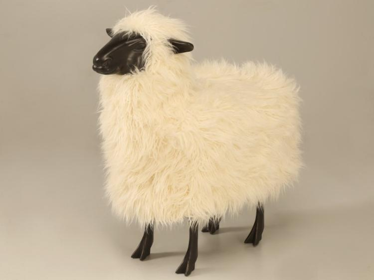 Dark Resin Lalanne Sheep (in the Style of)