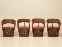 Mexican Set of Four Leather Chairs