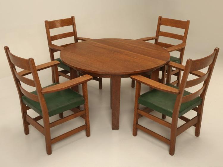 Arts & Craft Dining Table And Chairs