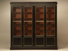 Antique French Louis Philippe Ebonized Bookcase