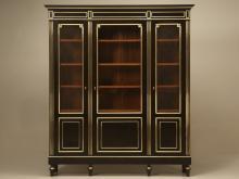 Antique French Ebonized Louis XVI Bookcase