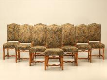 French Louis XIII Style Dining Chairs, Set of Ten