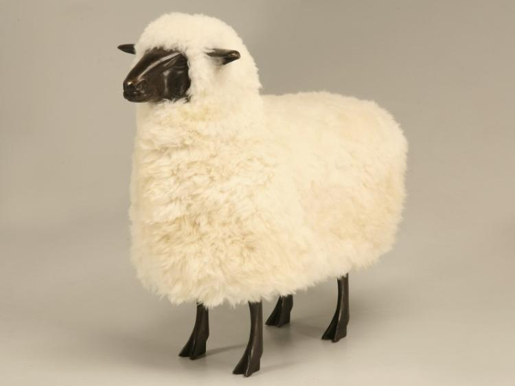 Claude Lalanne Sheep in Dark Solid Bronze (Style of)