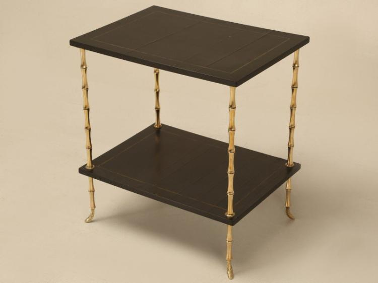 Bamboo End Table Attributed to Maison Jansen
