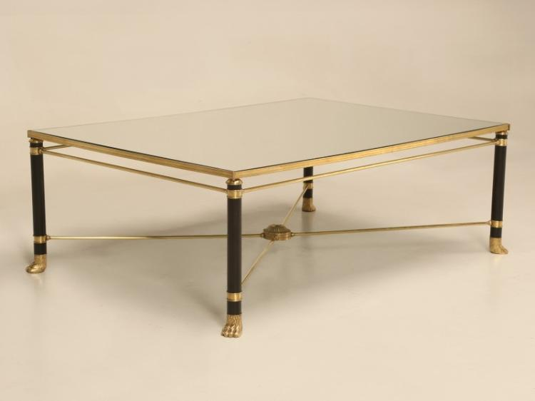 French Bronze, Brass and Black Coffee Table
