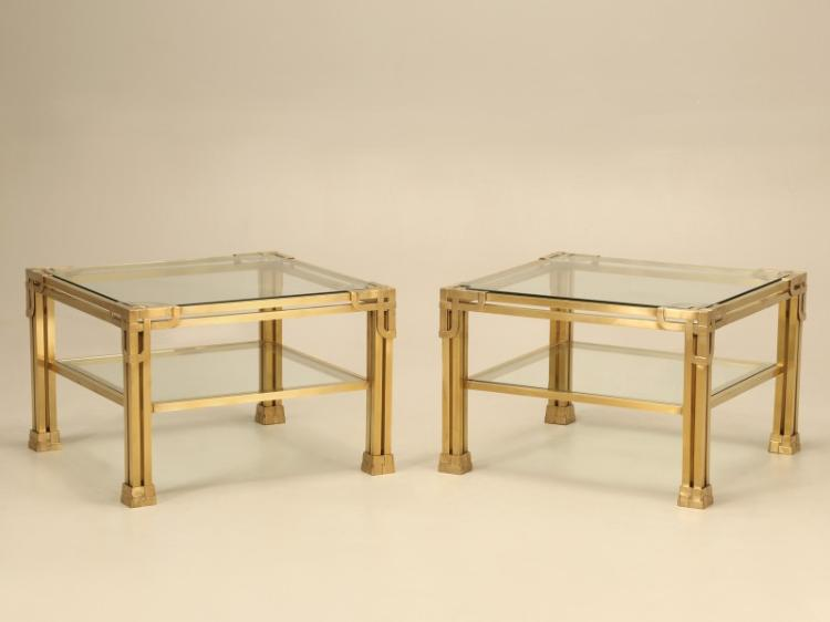 Pair of Solid Brass Coffee Tables