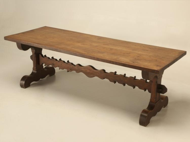 Antique French Farm Trestle Dining Table