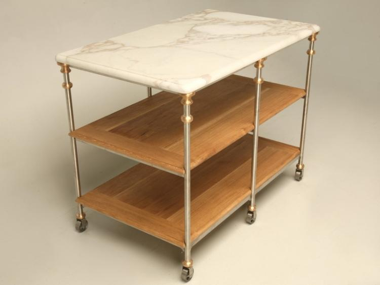 Stainless Steel & Bronze Kitchen Island