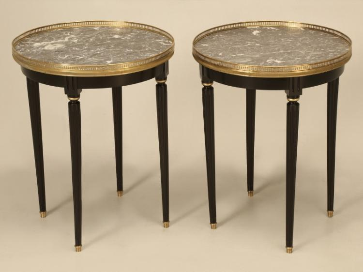 Louis XVI Style Ebonized Side Tables