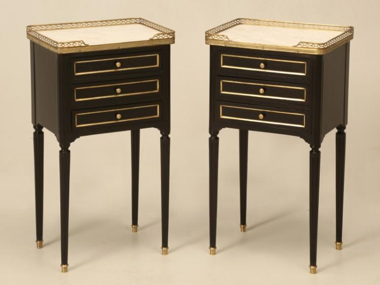 French Louis XVI Style Nightstands